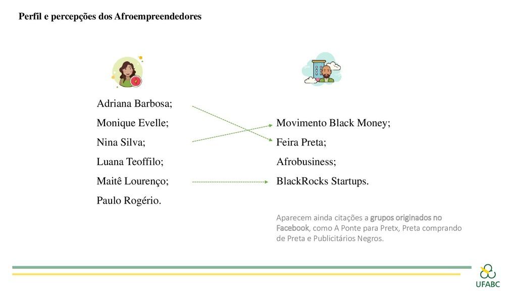 Perfil e percepções dos Afroempreendedores Adri...