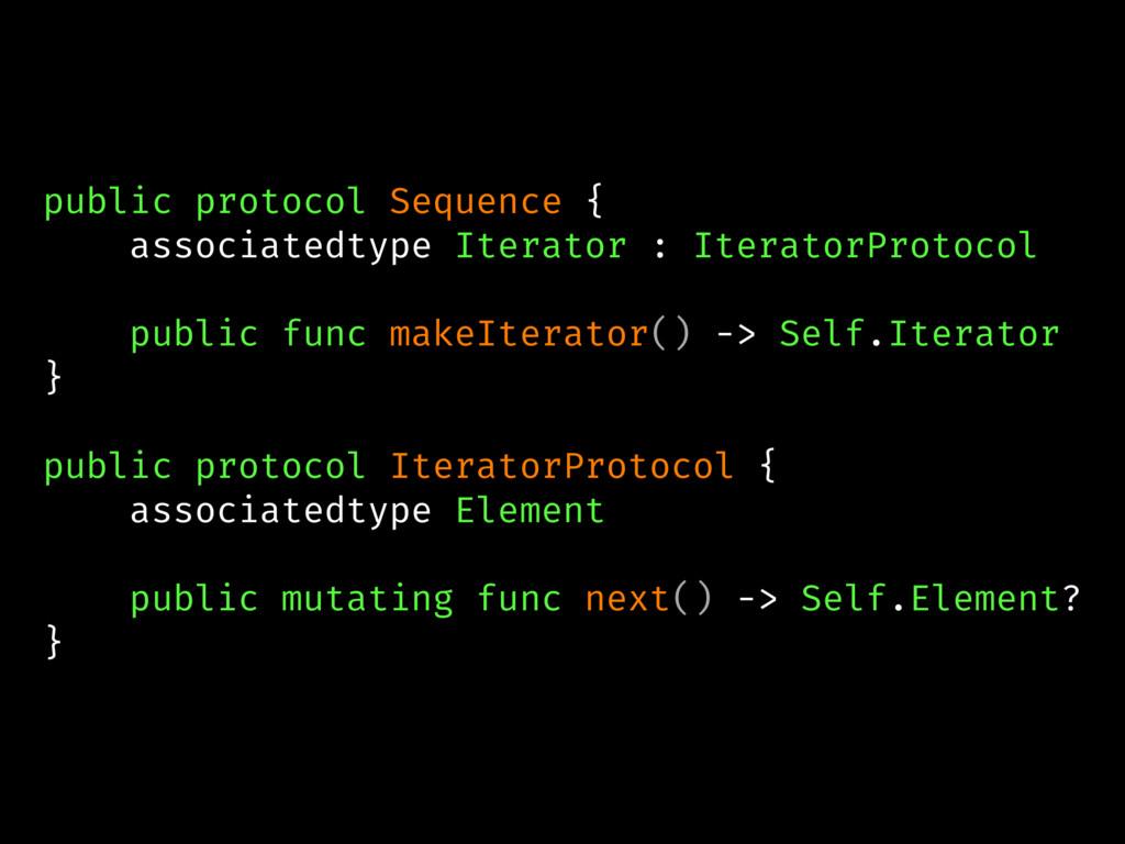 public protocol Sequence { associatedtype Itera...