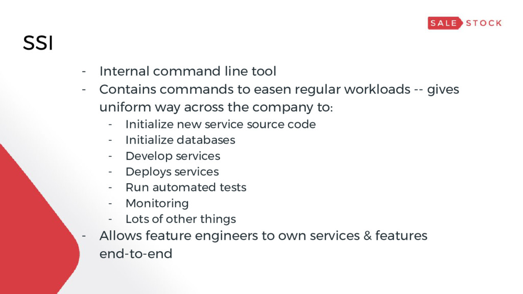 SSI - Internal command line tool - Contains com...