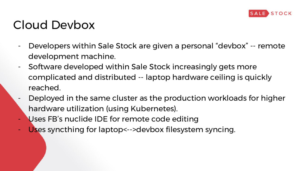 Cloud Devbox - Developers within Sale Stock are...