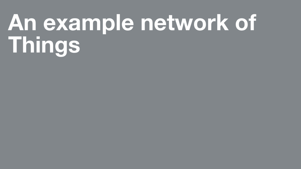 An example network of Things