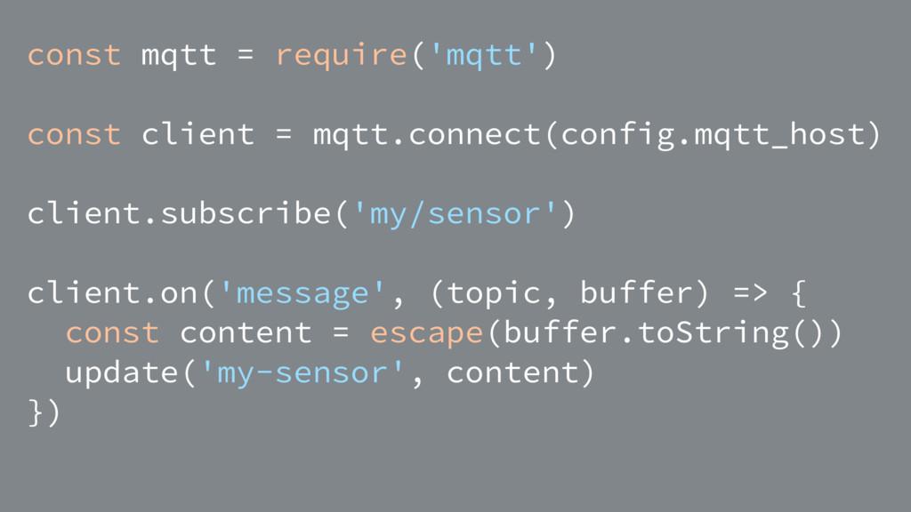 const mqtt = require('mqtt') const client = mqt...