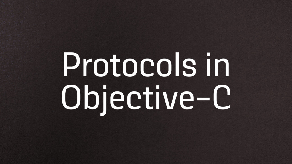 Protocols in Objective-C