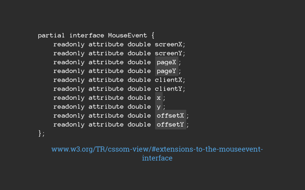 partial interface MouseEvent { readonly attribu...