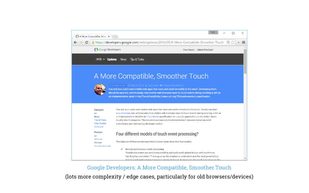Google Developers: A More Compatible, Smoother ...
