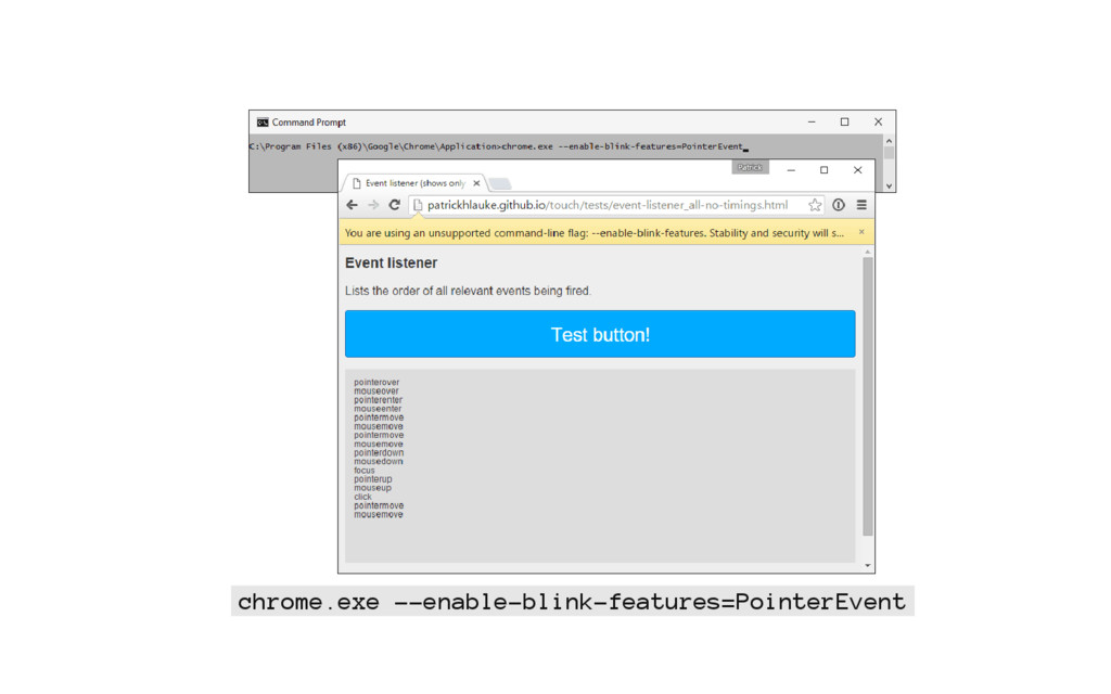 chrome.exe --enable-blink-features=PointerEvent