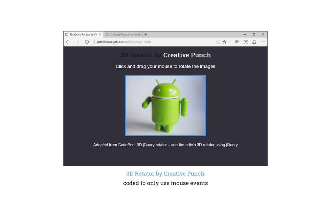 3D Rotator by Creative Punch coded to only use ...