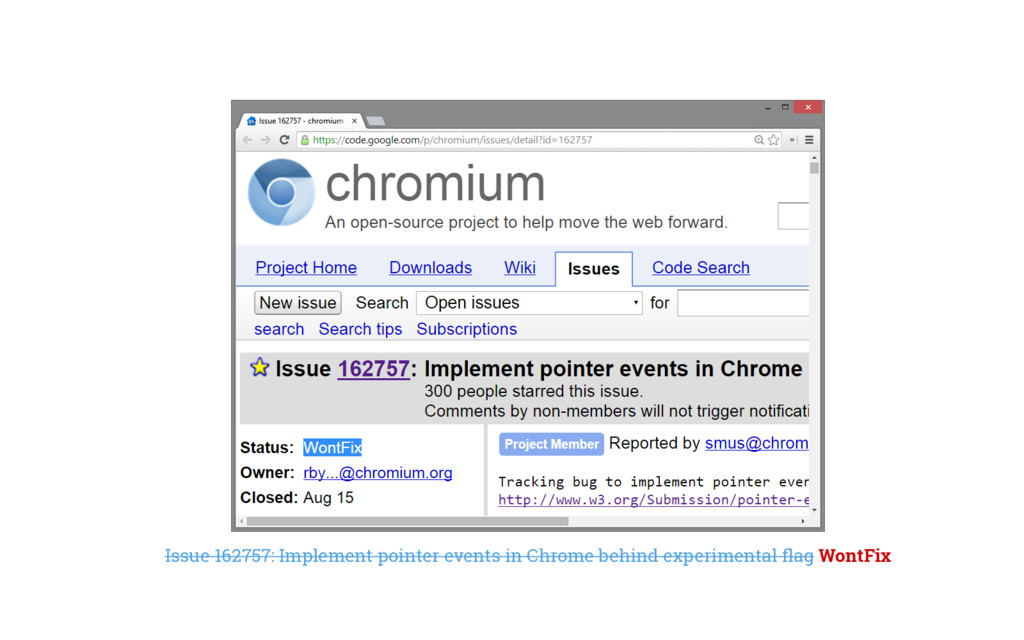 Issue 162757: Implement pointer events in Chrom...