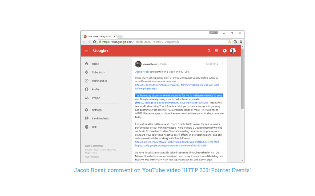 Jacob Rossi: comment on YouTube video 'HTTP 203...