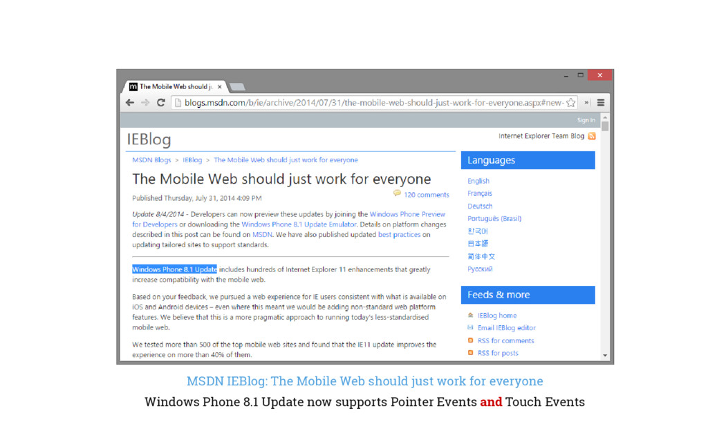 MSDN IEBlog: The Mobile Web should just work fo...