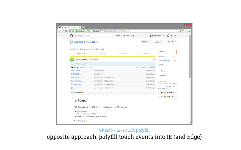 GitHub - IE-Touch polyfill opposite approach: po...