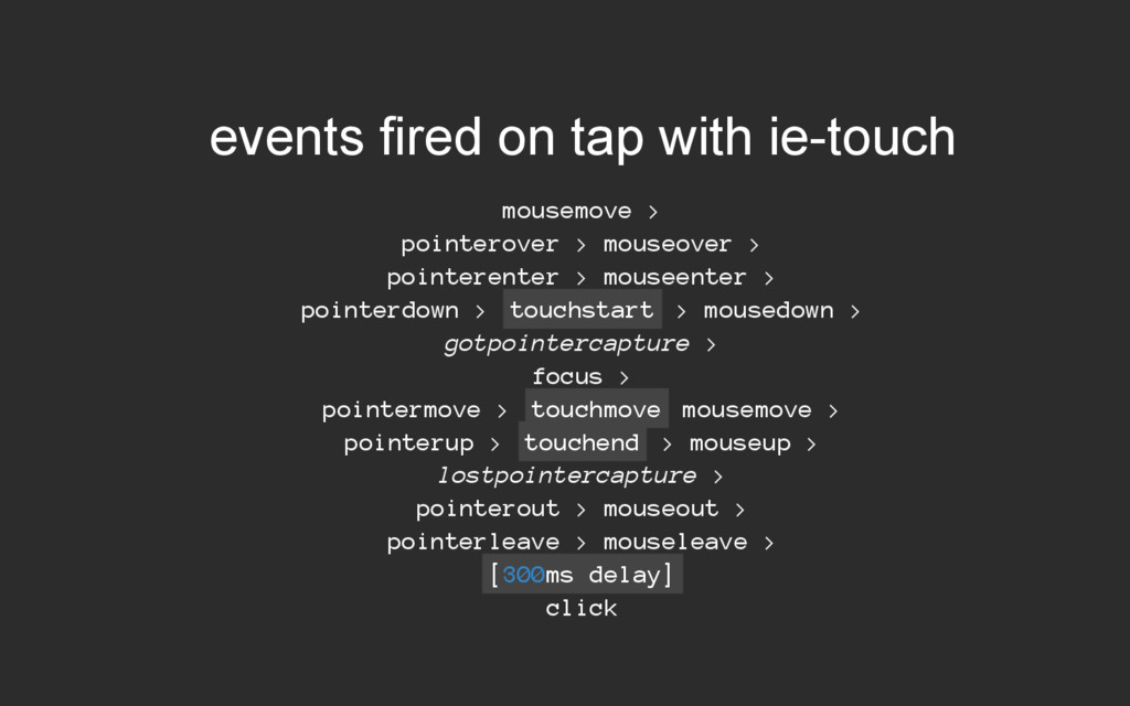 events fired on tap with ietouch mousemove > p...