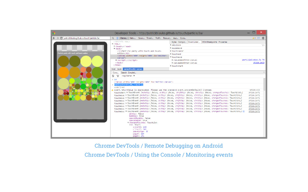 Chrome DevTools / Remote Debugging on Android C...