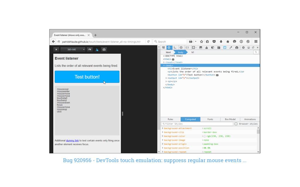 Bug 920956 - DevTools touch emulation: suppress...