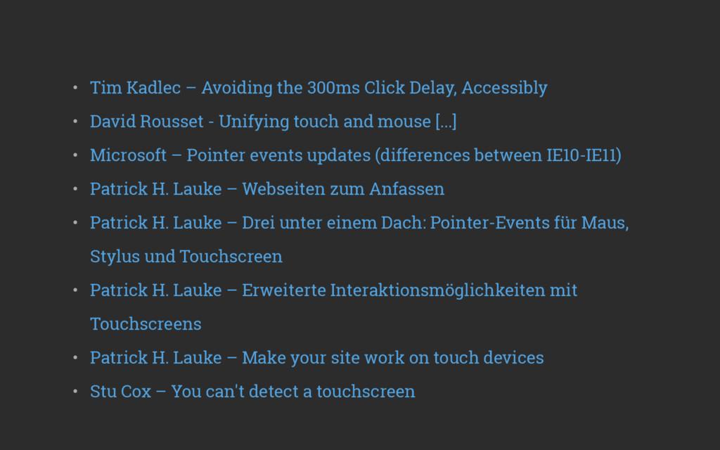 • Tim Kadlec – Avoiding the 300ms Click Delay,...