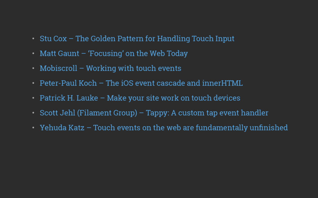 • Stu Cox – The Golden Pattern for Handling To...
