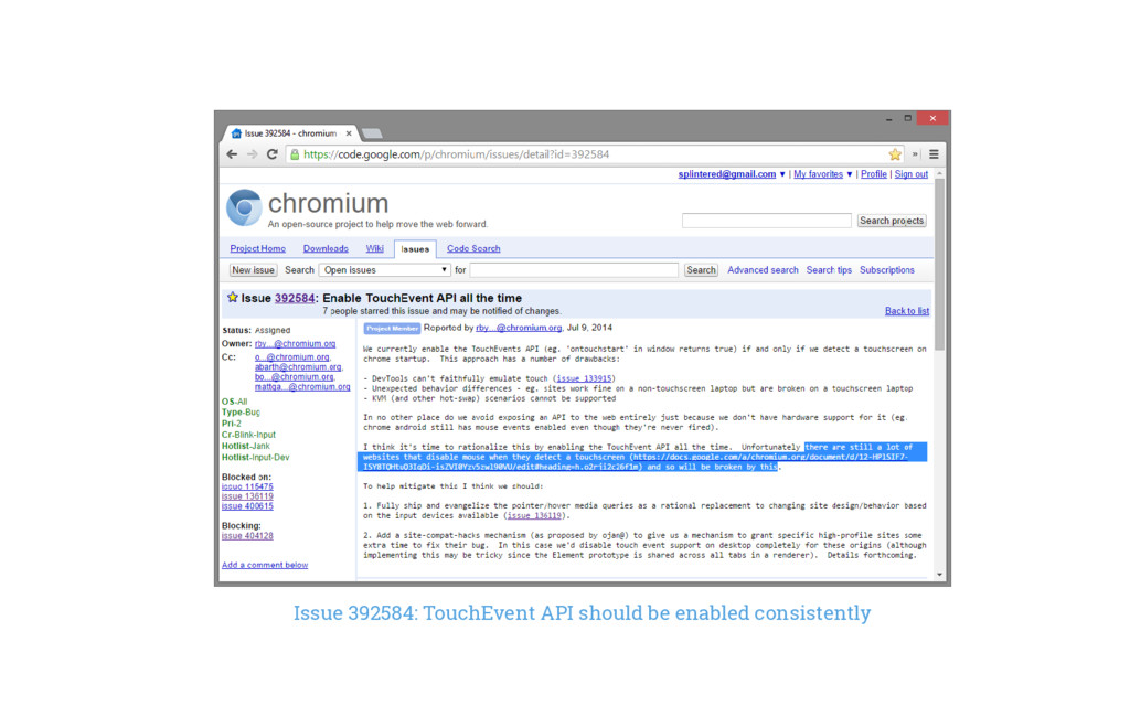 Issue 392584: TouchEvent API should be enabled ...