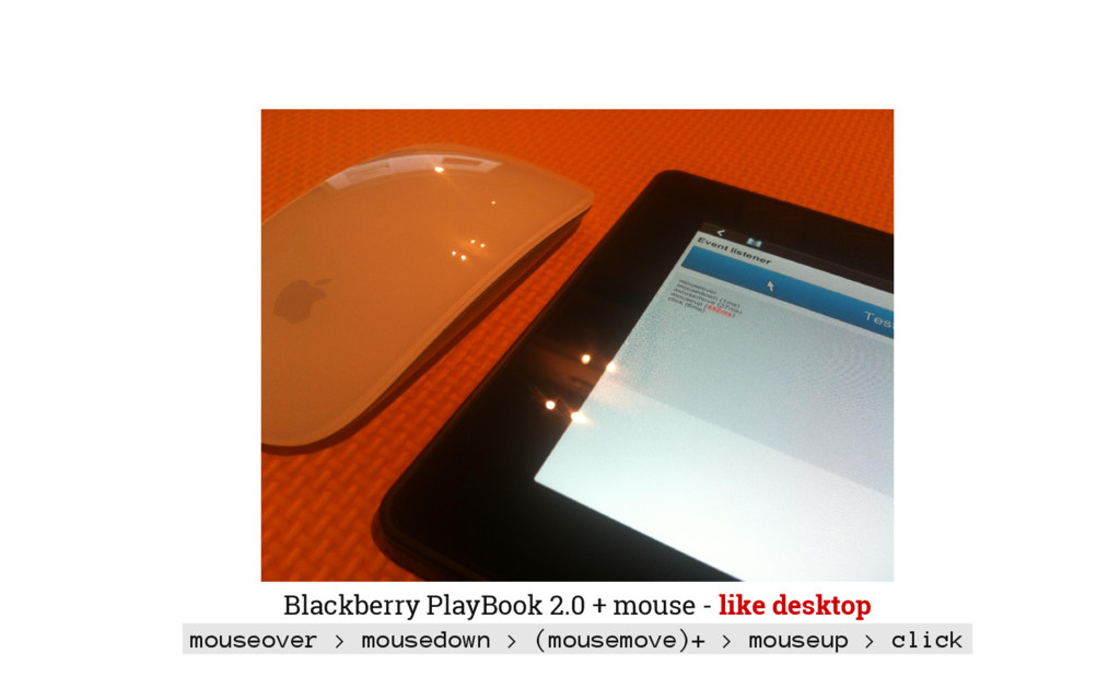 Blackberry PlayBook 2.0 + mouse - like desktop ...