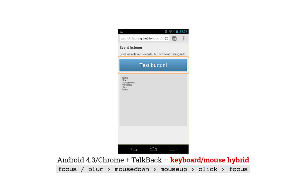 Android 4.3/Chrome + TalkBack – keyboard/mouse ...