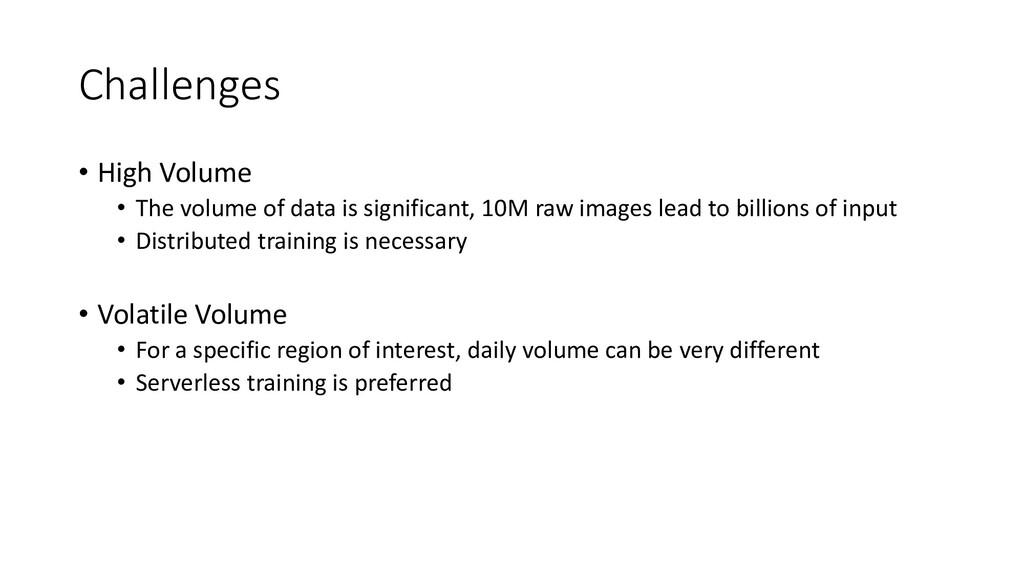 Challenges • High Volume • The volume of data i...