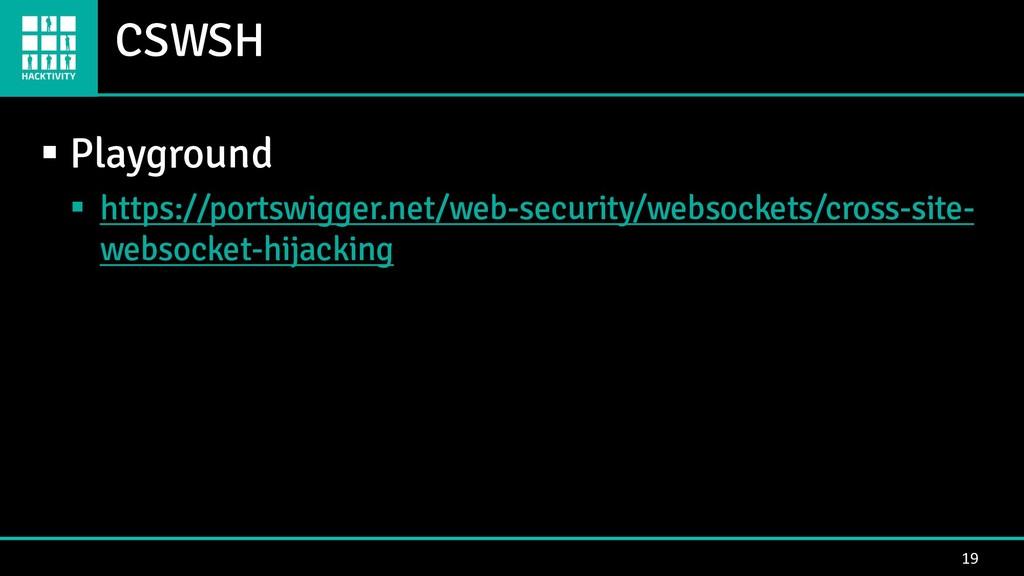 CSWSH 19 ▪ Playground ▪ https://portswigger.net...