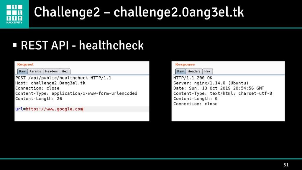 Challenge2 – challenge2.0ang3el.tk 51 ▪ REST AP...