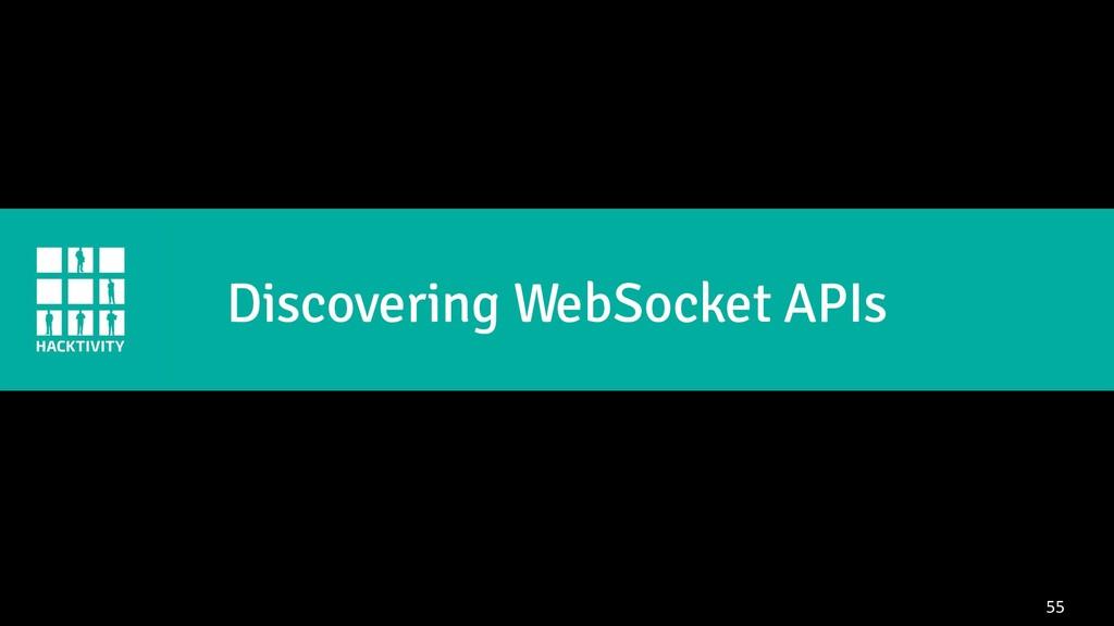 55 Discovering WebSocket APIs