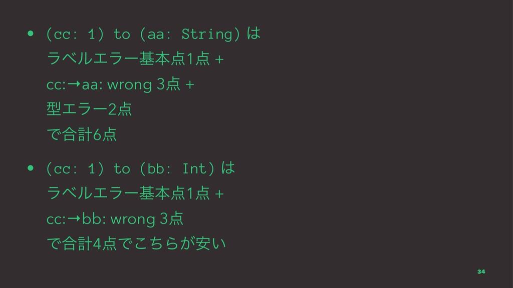 • (cc: 1) to (aa: String)  ϥϕϧΤϥʔجຊ1 + cc:→a...