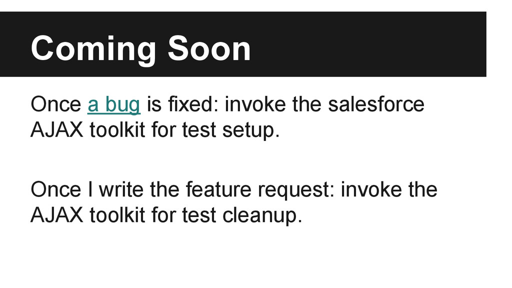 Coming Soon Once a bug is fixed: invoke the sal...