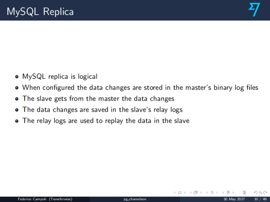 MySQL Replica MySQL replica is logical When con...