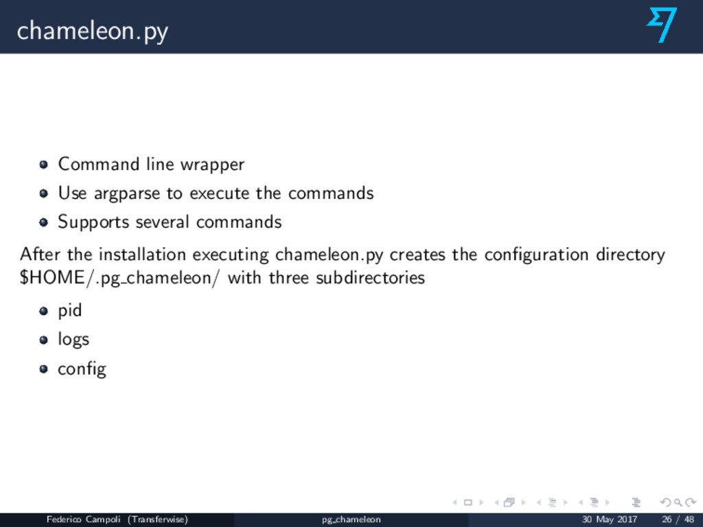 chameleon.py Command line wrapper Use argparse ...