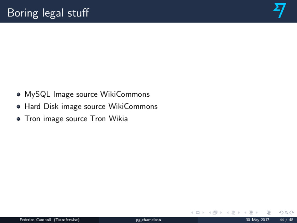Boring legal stuff MySQL Image source WikiCommon...