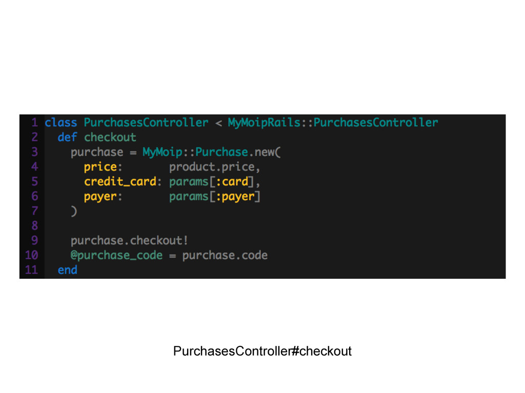 PurchasesController#checkout