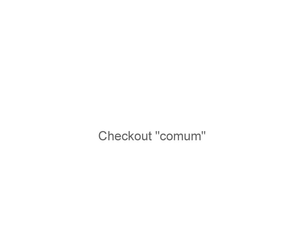 """Checkout """"comum"""""""