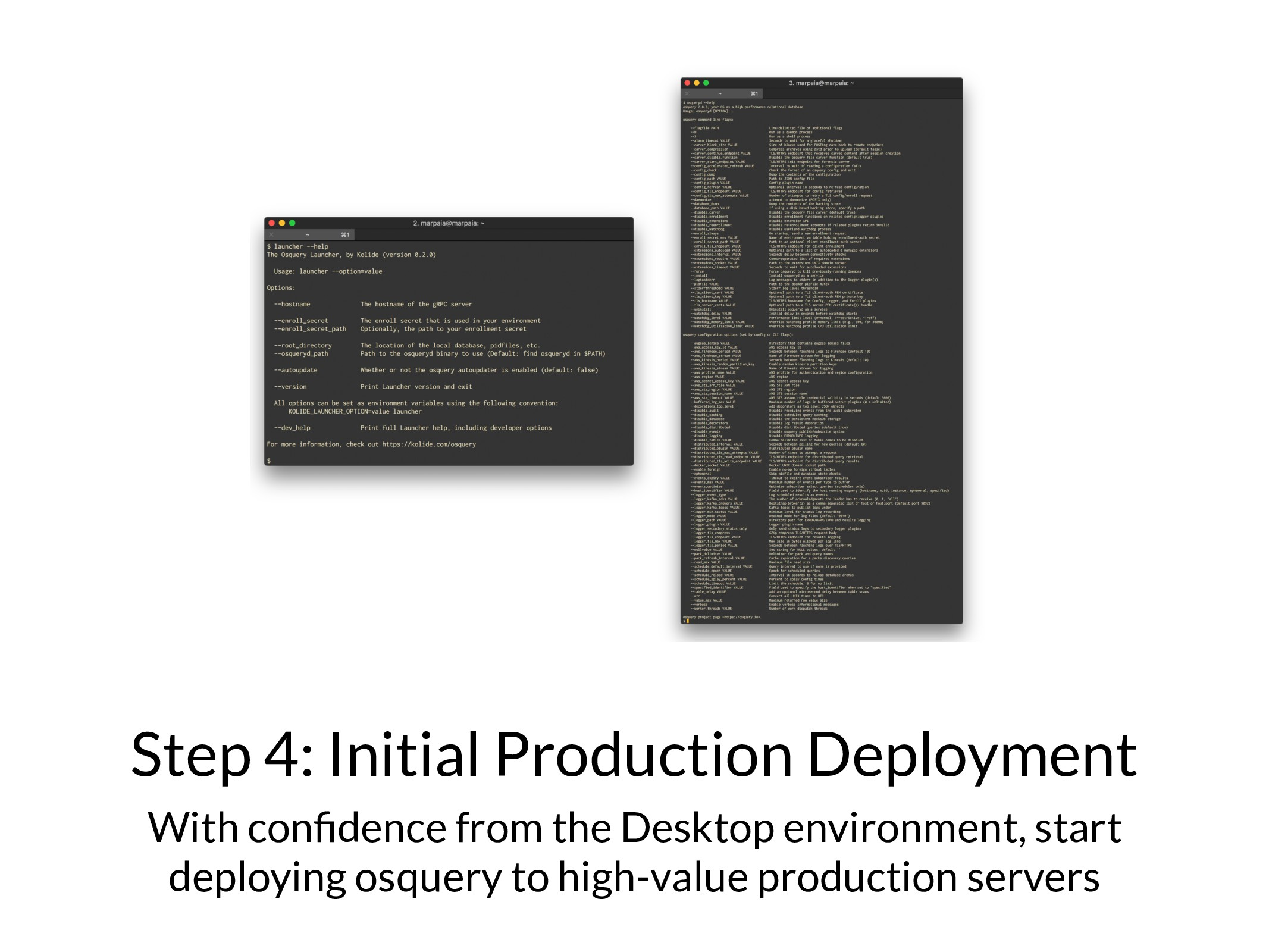 Step 4: Initial Production Deployment With confi...