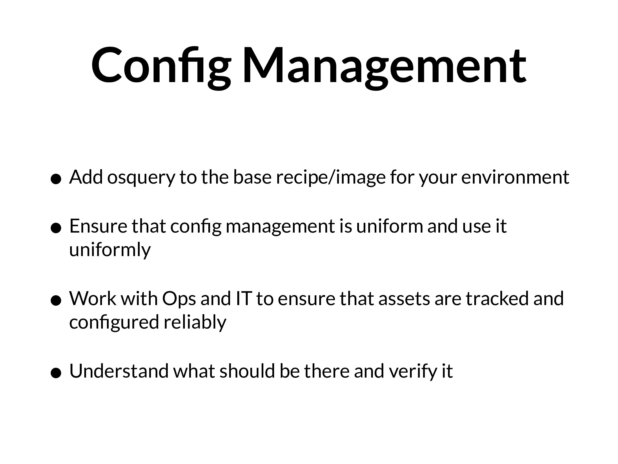 Config Management • Add osquery to the base reci...