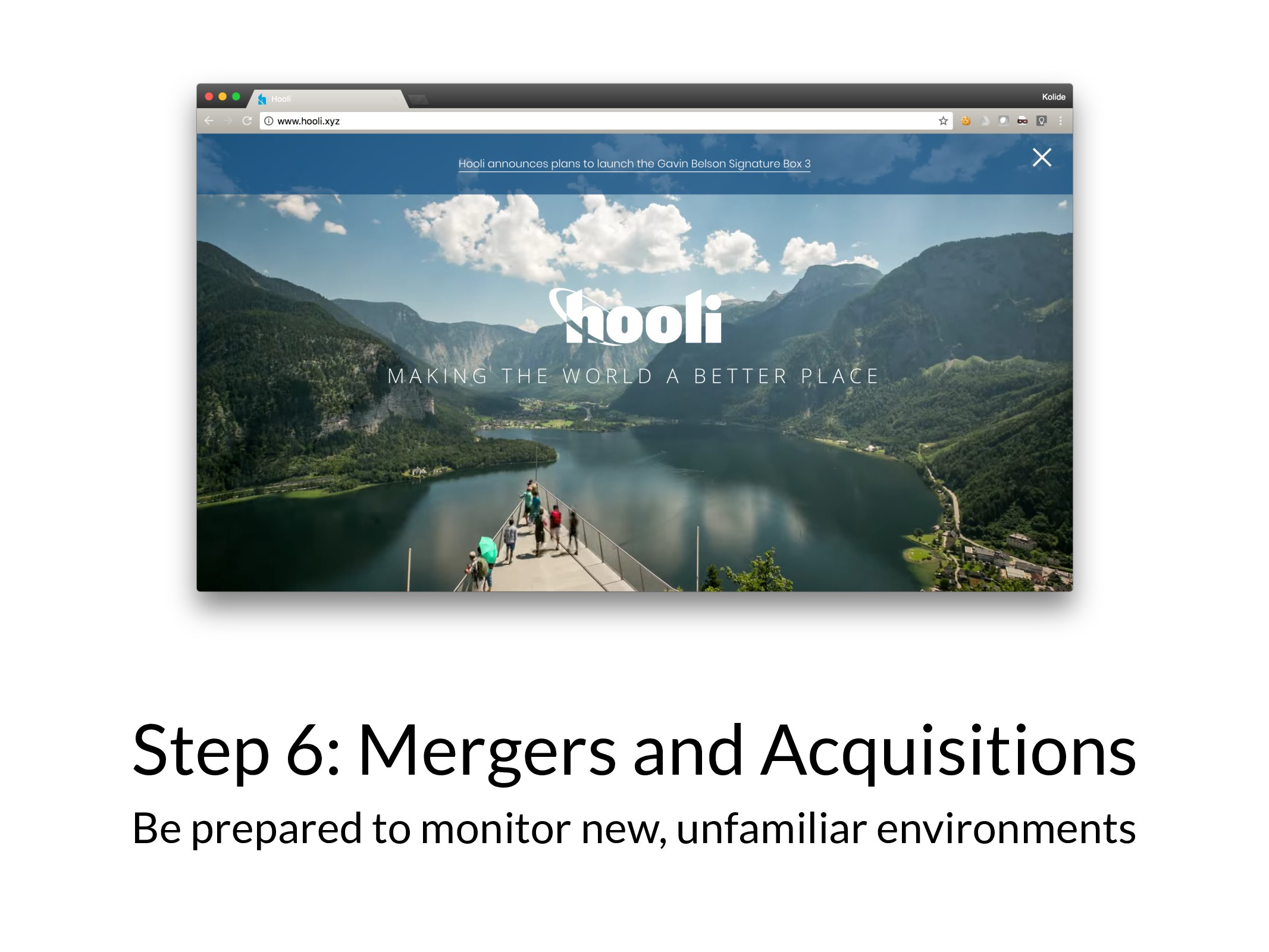Step 6: Mergers and Acquisitions Be prepared to...