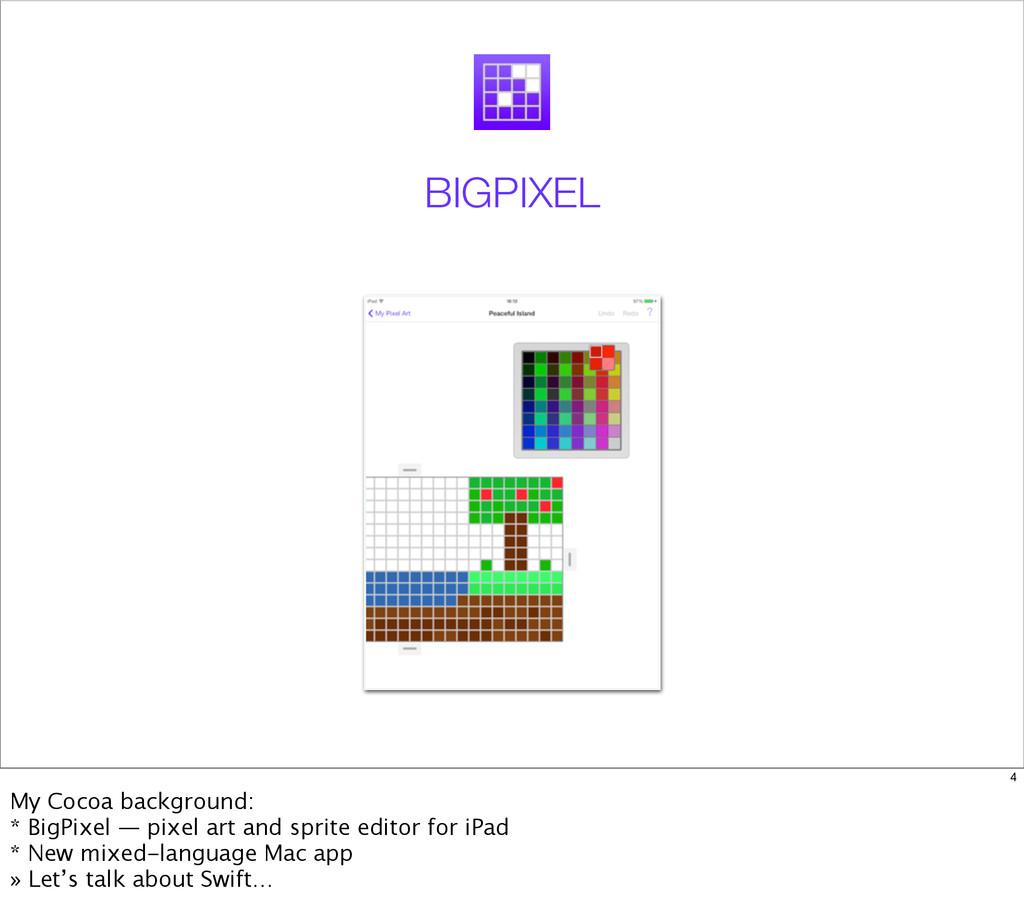 BIGPIXEL 4 My Cocoa background: * BigPixel — pi...