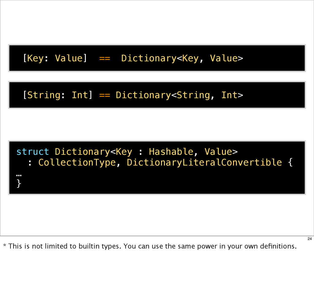 struct Dictionary<Key : Hashable, Value> : Coll...