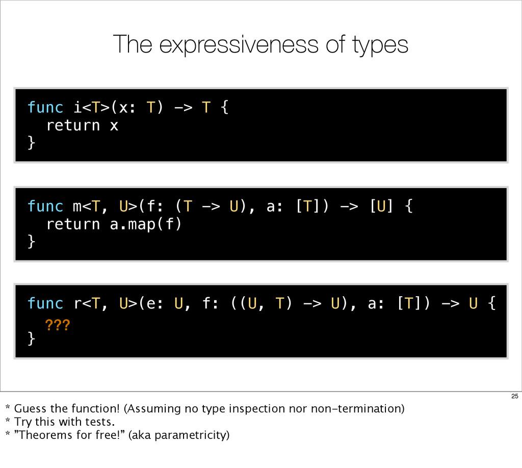 func i<T>(x: T) -> T { return x } func m<T, U>(...
