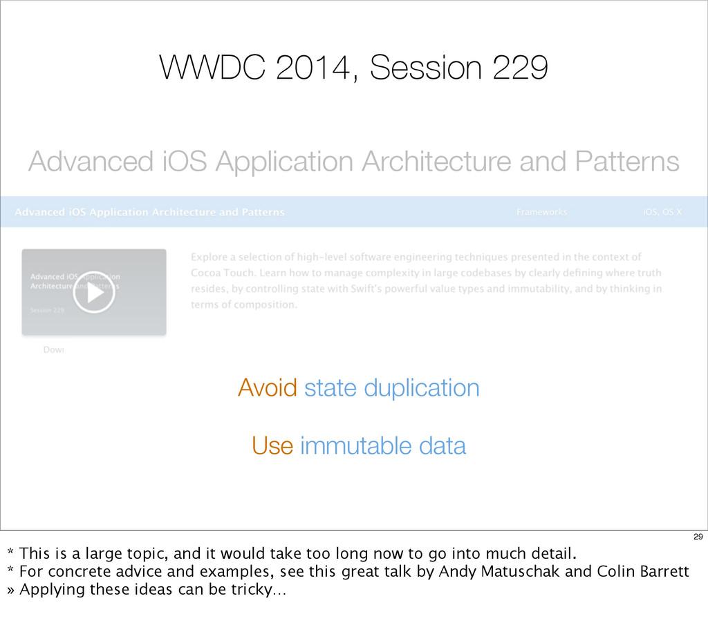 WWDC 2014, Session 229 Advanced iOS Application...