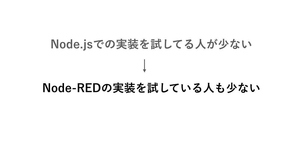 /PEFKTͰͷ࣮Λࢼͯ͠Δਓ͕গͳ͍ /PEF3&%ͷ࣮Λࢼ͍ͯ͠Δਓগͳ͍