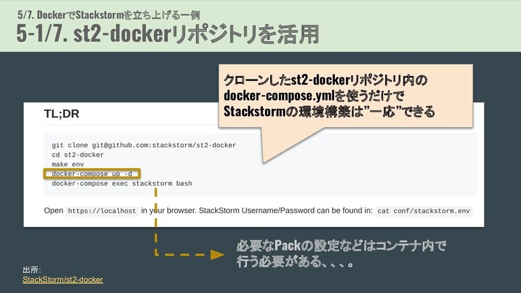 5/7. DockerでStackstormを立ち上げる一例 5-1/7. st2-docke...