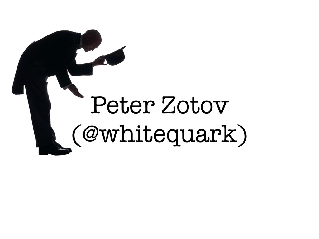 Peter Zotov (@whitequark)