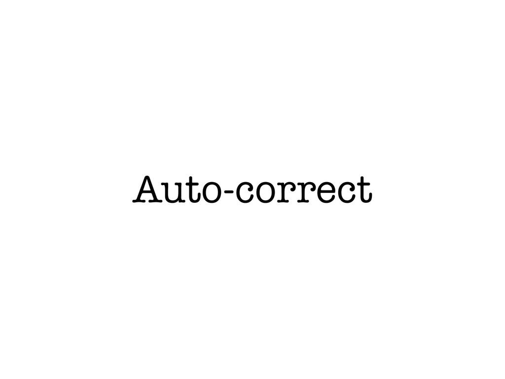 Auto-correct