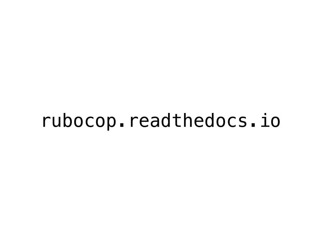 rubocop.readthedocs.io