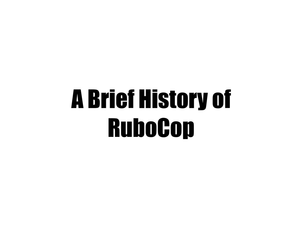 A Brief History of RuboCop