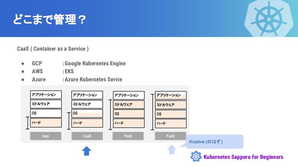 Kubernetes Sapporo for Beginners どこまで管理? CaaS (...