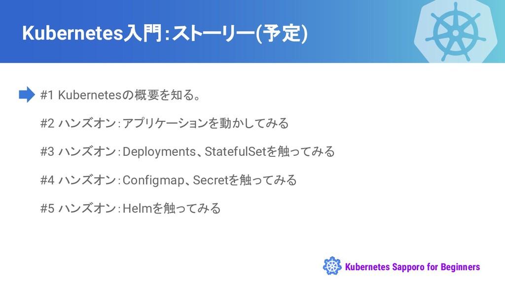 Kubernetes Sapporo for Beginners Kubernetes入門:ス...