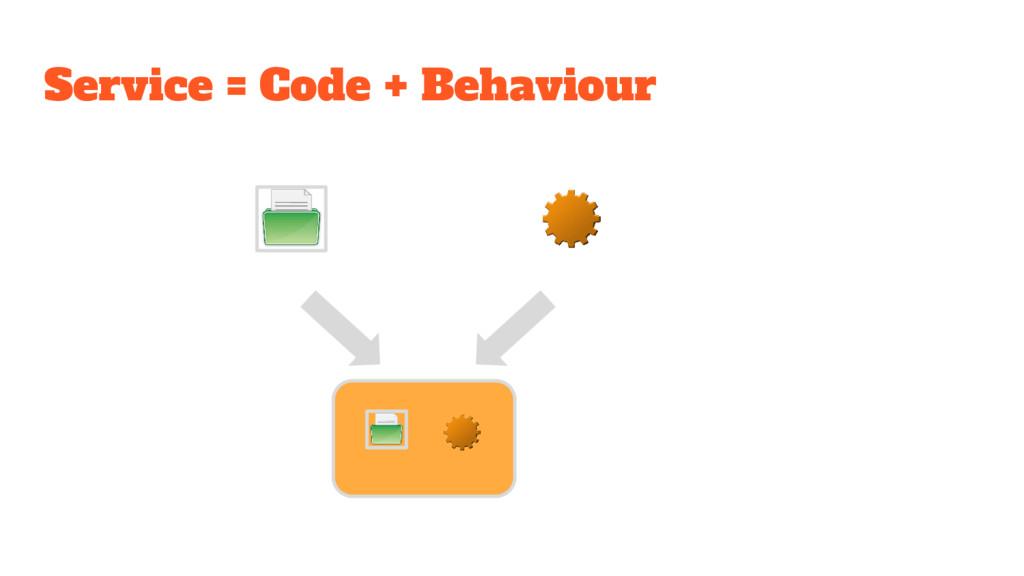 Service = Code + Behaviour